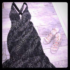 Jasz couture v-neckline beaded dress